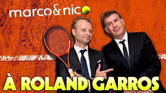 Nico et Marco à Roland Garros