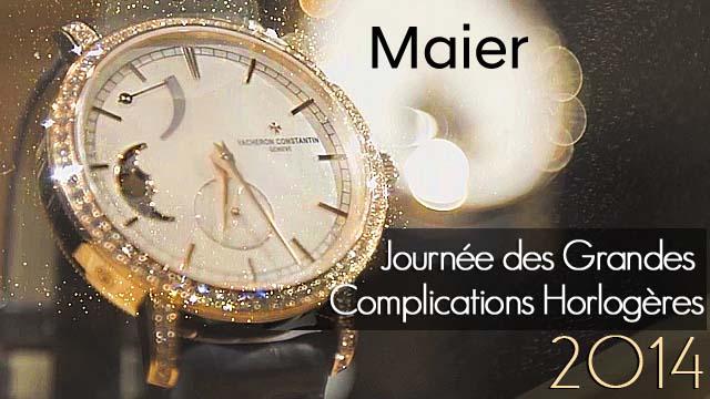 Journée des Grandes Complications Horlogères chez MAIER