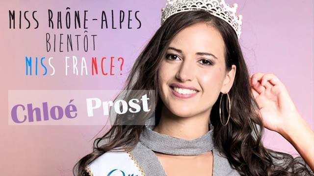 Chloé Prost représentera le Rhône-Alpes pour la prochaine élections Miss France