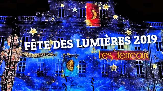 Fête des Lumières 2019, Lyon, Place des Terreaux - Une toute petite histoire de lumière [4K]
