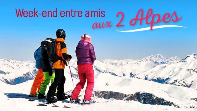 Week-end entre amis aux 2 Alpes
