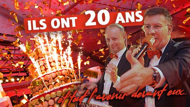 Ils ont 20 ans....et tout l'avenir devant eux ! Revivez la soirée des 20 ans de Lyon People le 13 Février 2020 à l'Ouest...