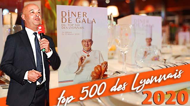 Dîner du TOP 500 des lyonnais à la brasserie de l'Ouest le 13 Février 2020