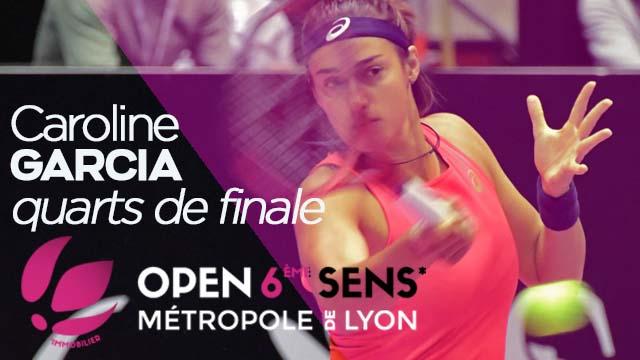 06 Mars 2020 - 1/4 de Finale de l'OPEN 6ème SENS : Caroline Garcia vs. Alison Van Uytvanck
